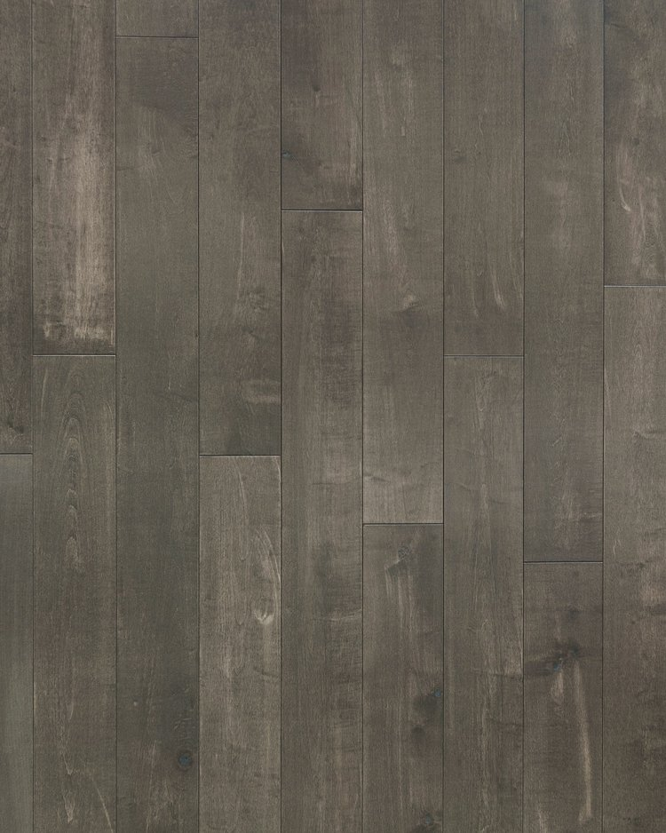 """BSMA-22 Topaz Maple:  Darker in color, this flooring also features a 5/8"""" thickness. It is smooth with natural crevices and mineral streaks. scraped/distressed, wire brushed and smooth."""