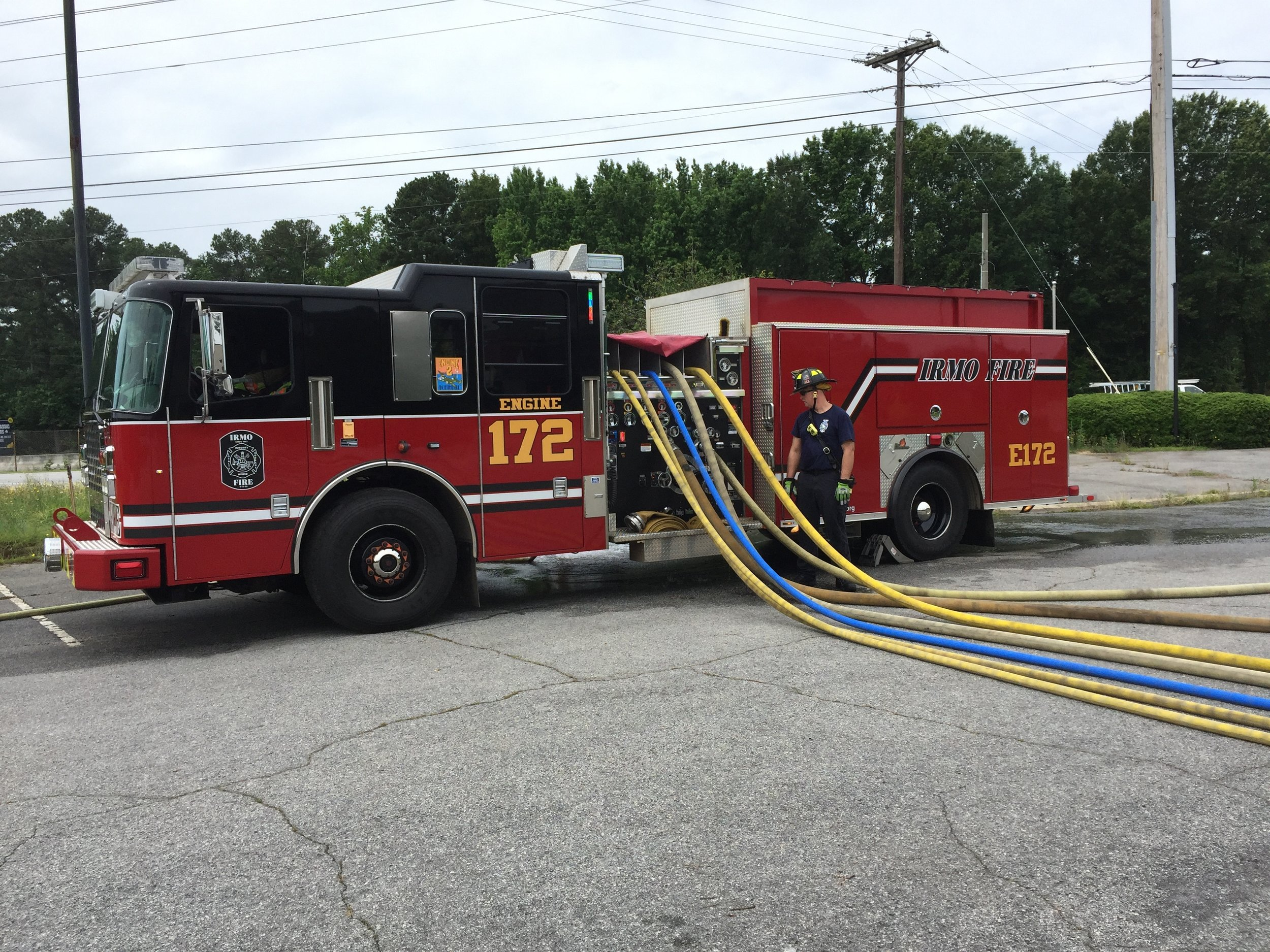 Engine 172 at a pumping training evolution.