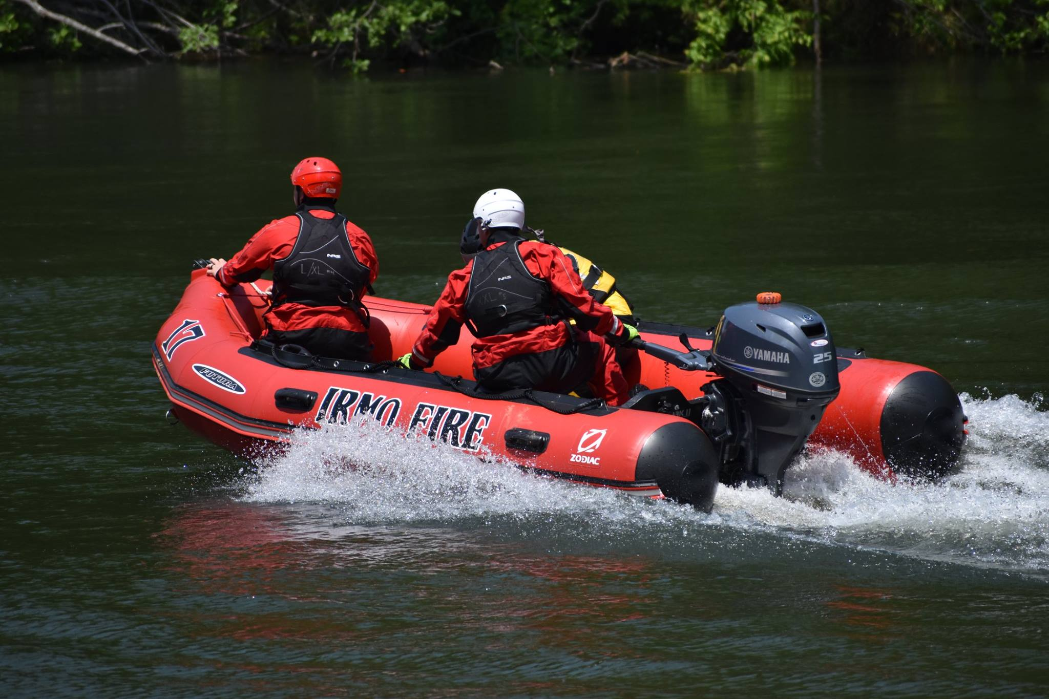 Boat 17 - Boat 17 is a Zodiac Futura and operates out of the Headquarters Station.