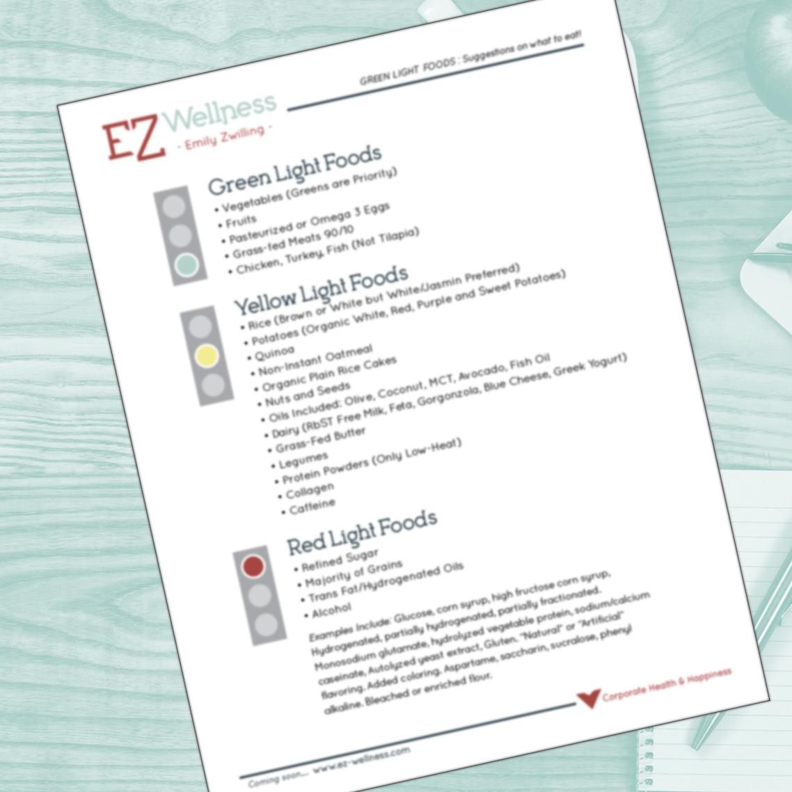 GREEN LIGHT Foods List -