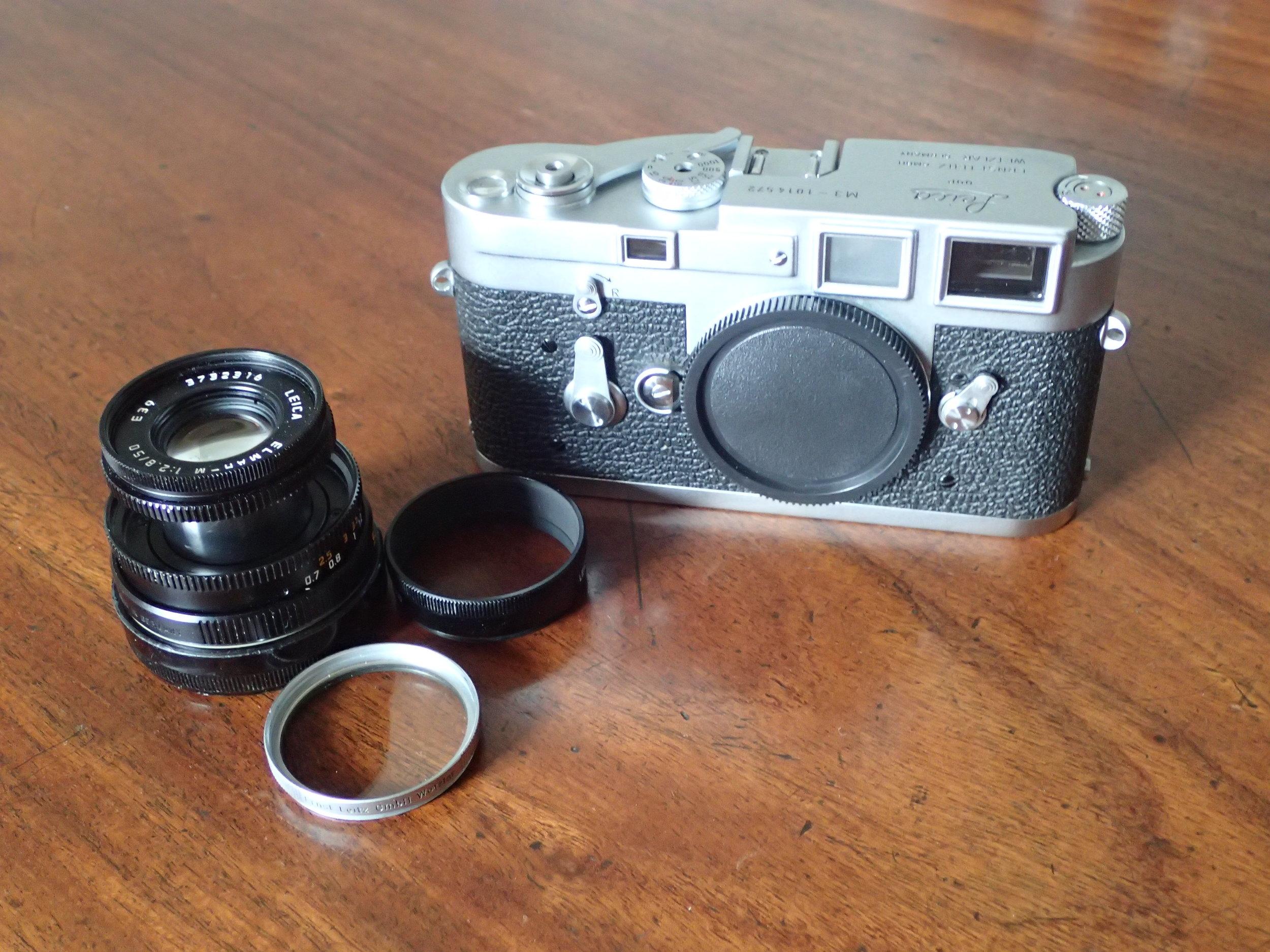Leica M3, Leica Elmar-M 50 mm f2.8, Leica UVa filter.