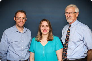 From left to Right: Dr. Peter W. Hart, Dr. Sarah Hodgson, and Dr. Stephen T. Hart