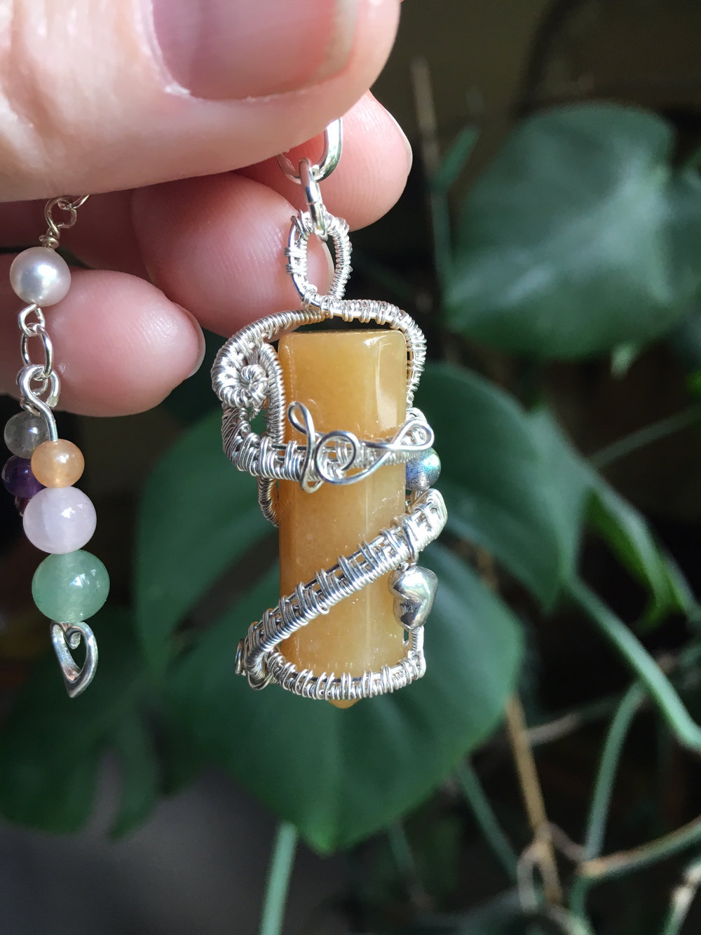 Natural Yellow Jasper Pendant