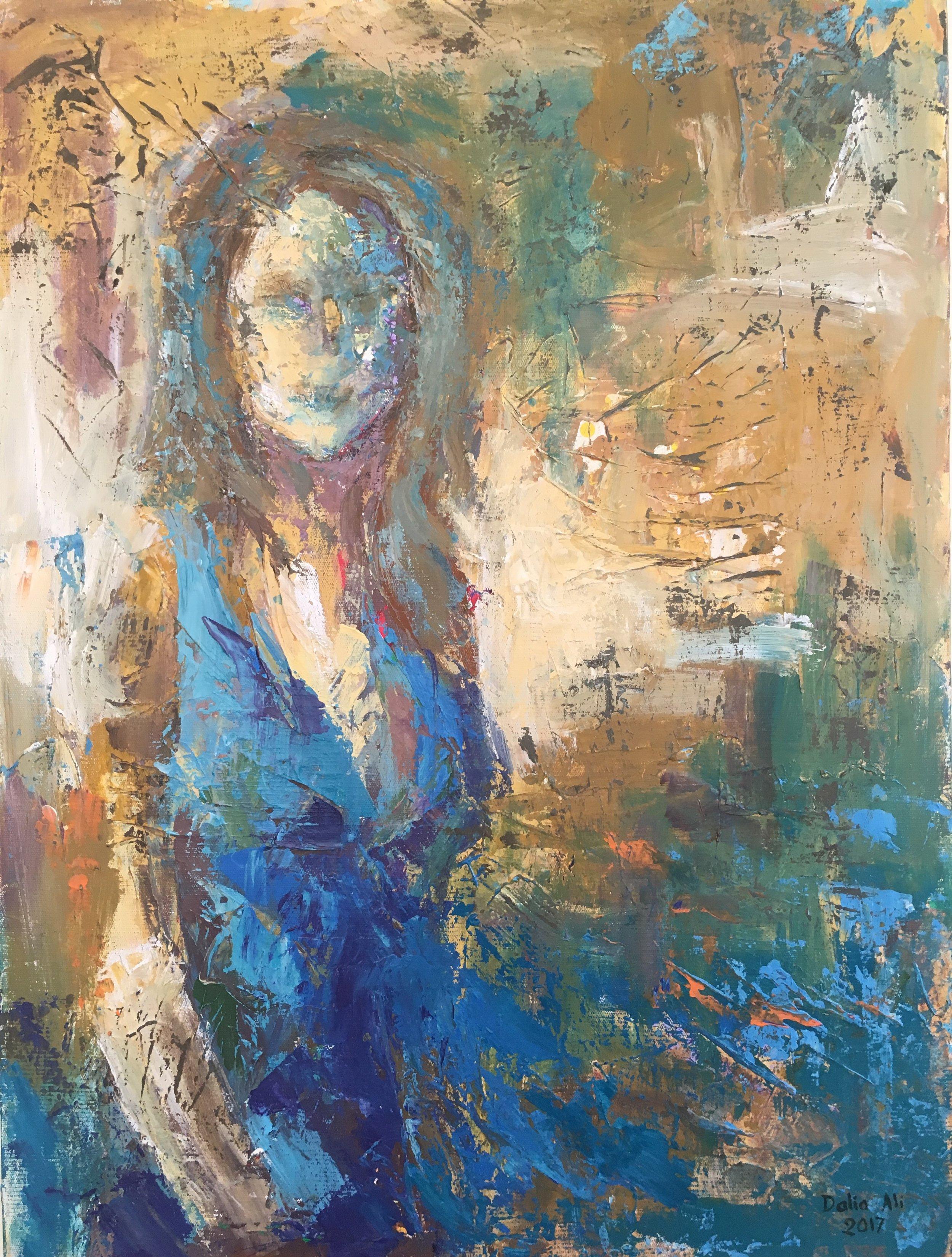 "Dalia Ali: "" Lady in Blue """