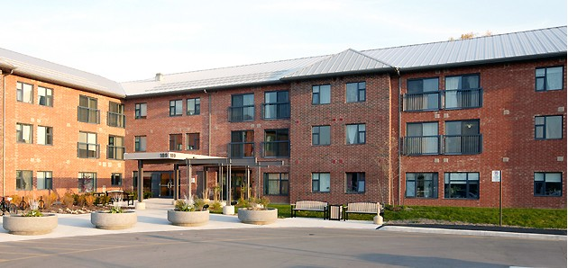 Halton Community Housing Corporation – Martin House Seniors Apartments, Halton   Halton Community Housing Corporation - Martin House Seniors Apartments is a 3 storey 80 units apartment building designed for senior s and barrier-free access. ( click for more )  Photo Courtesy of Thier Curran Architects Inc.