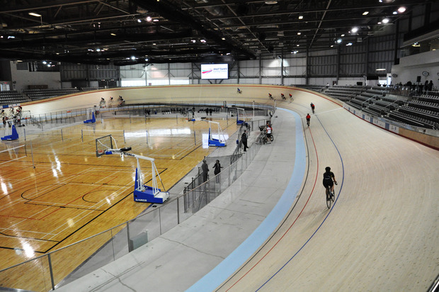 """Mattamy National Cycling Centre (  formerly known as Cisco Milton Pan Am/Parapan Am Velodrome  ), Milton   The Mattamy National Cycling was designed to suit the specific requirements of both the """"Pan Am Games"""" and """"Post Game-Legacy"""" requirements. Structural elements of this facility comply with the needs of both modes of operation. (click for more)   Photos Courtesy of B+H Architects"""