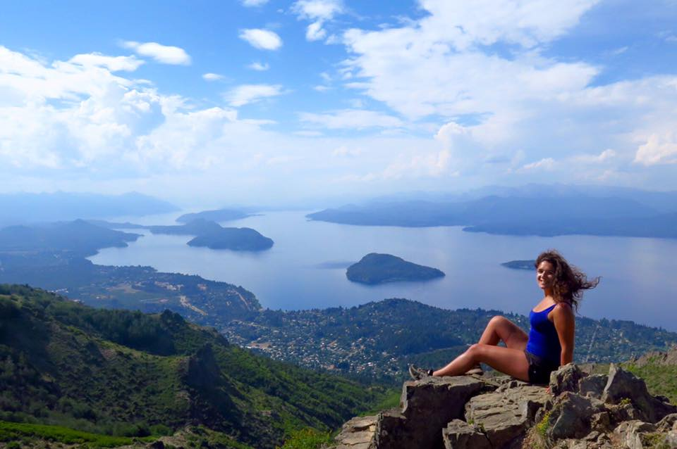 Overlooking the lakes of Bariloche, Argentina in Pategonia