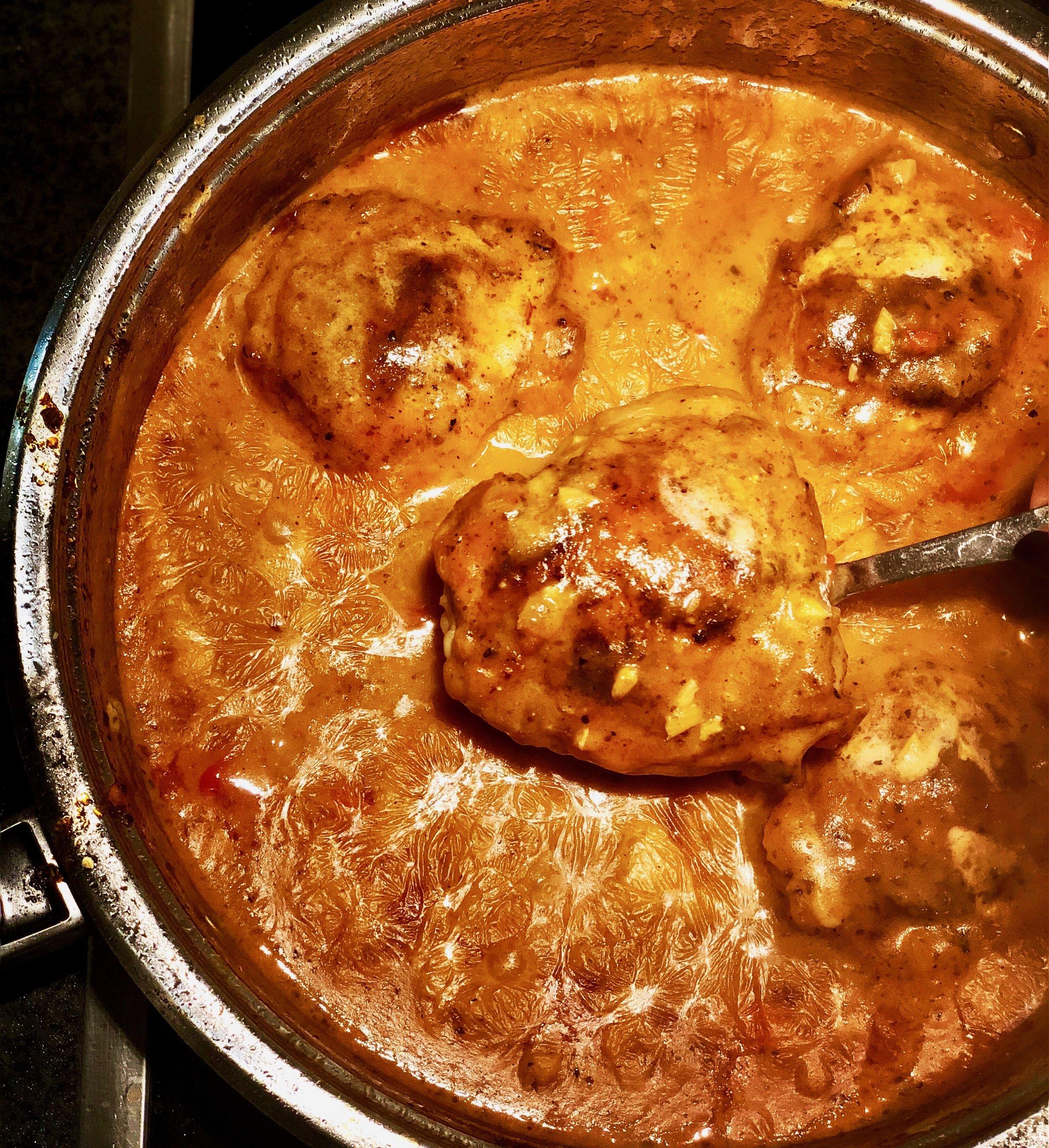 Chicken goulash.