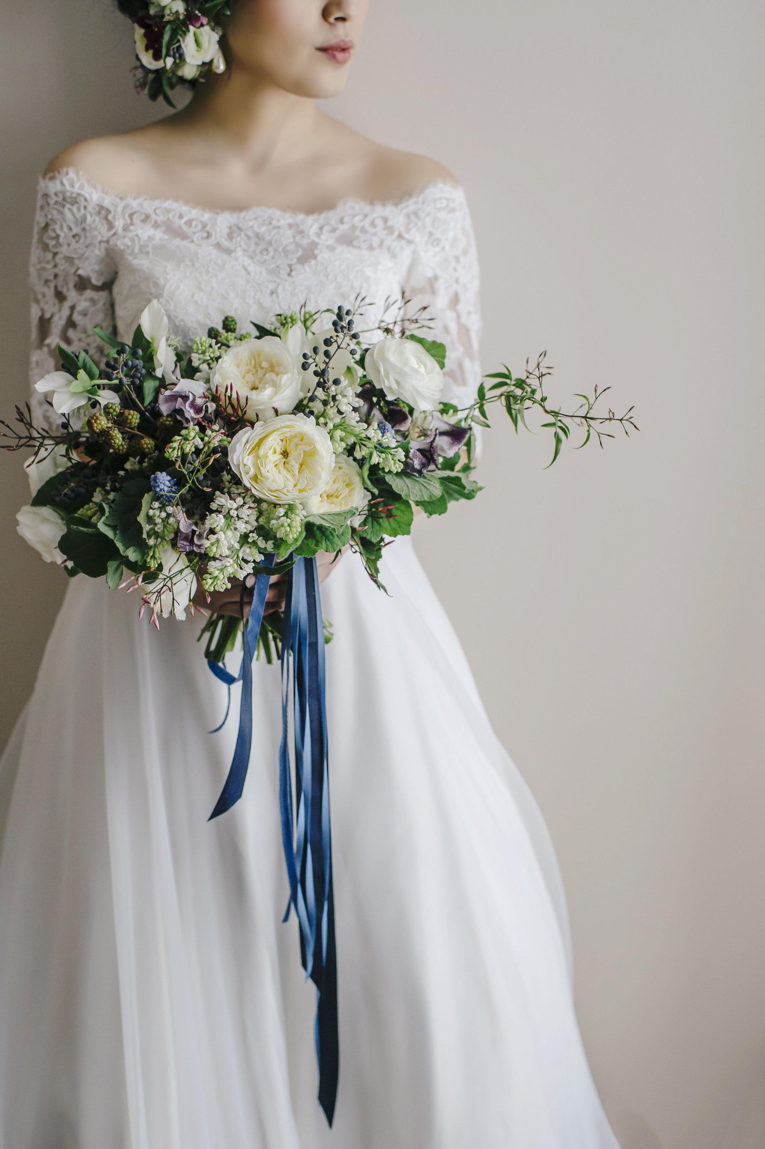 custom paper goods wedding florist