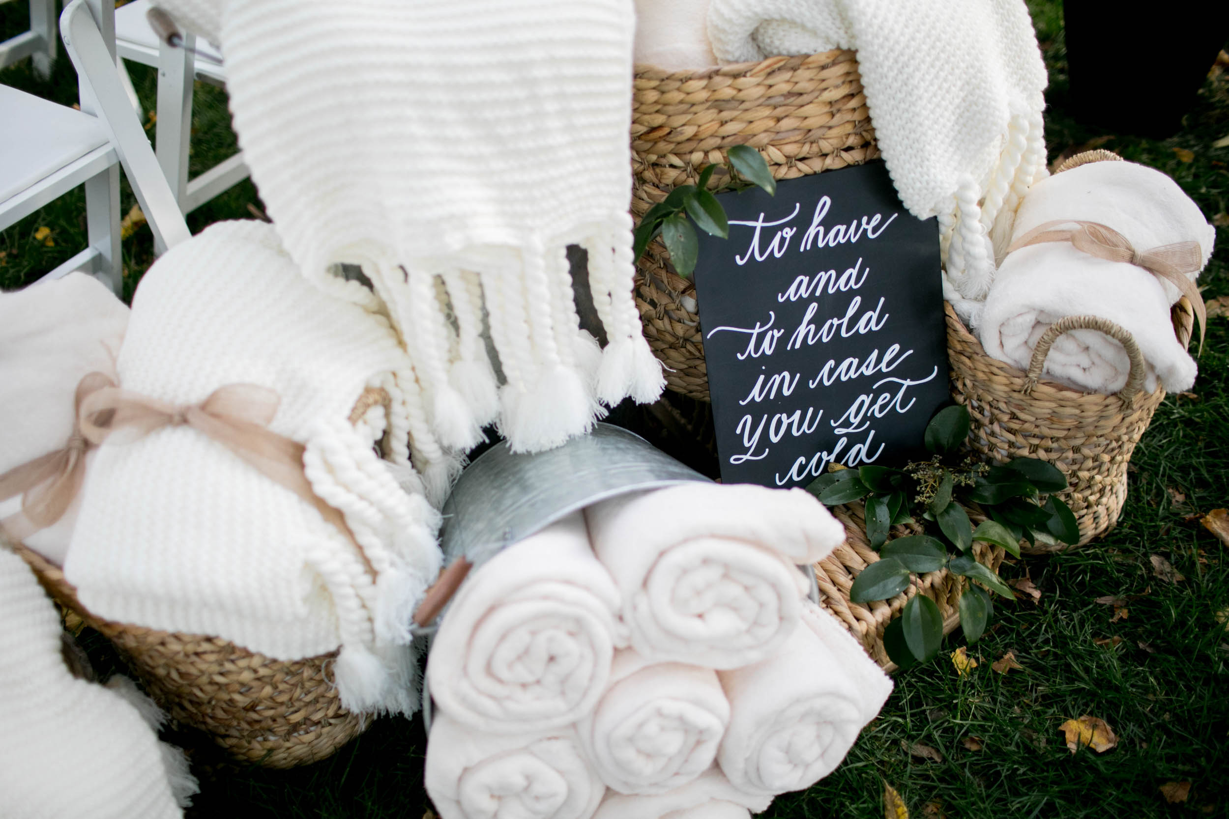 custom wedding planners ann arbor michigan event design paper goods florals fall blankets