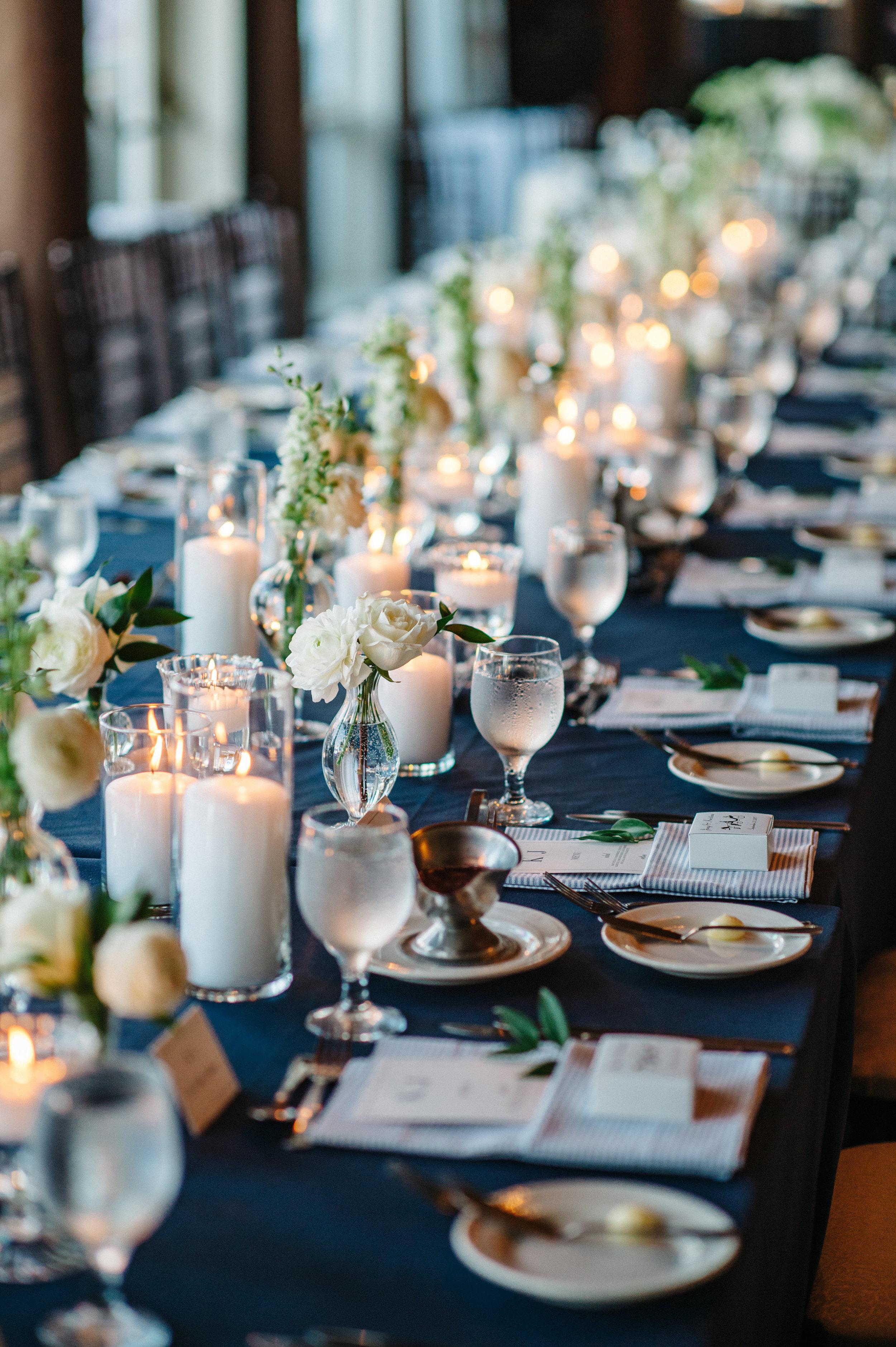custom wedding planners michigan event design paper goods florals nautical mackinac island table settings