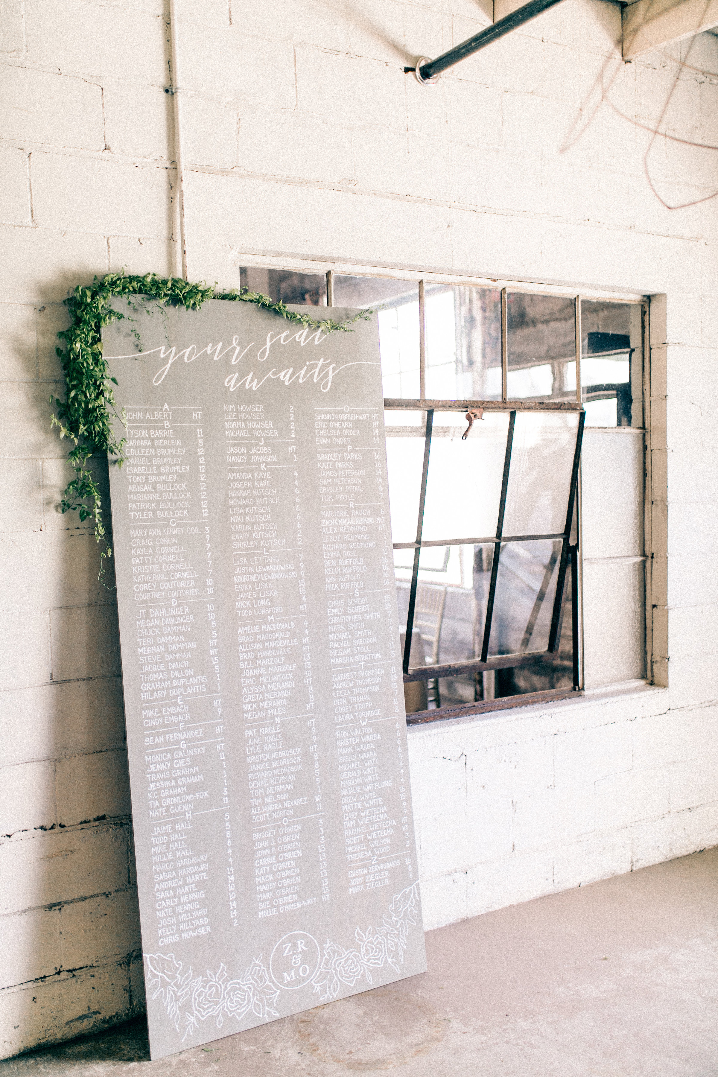 vintage custom high end wedding planners event design florals paper goods michigan escort card wall