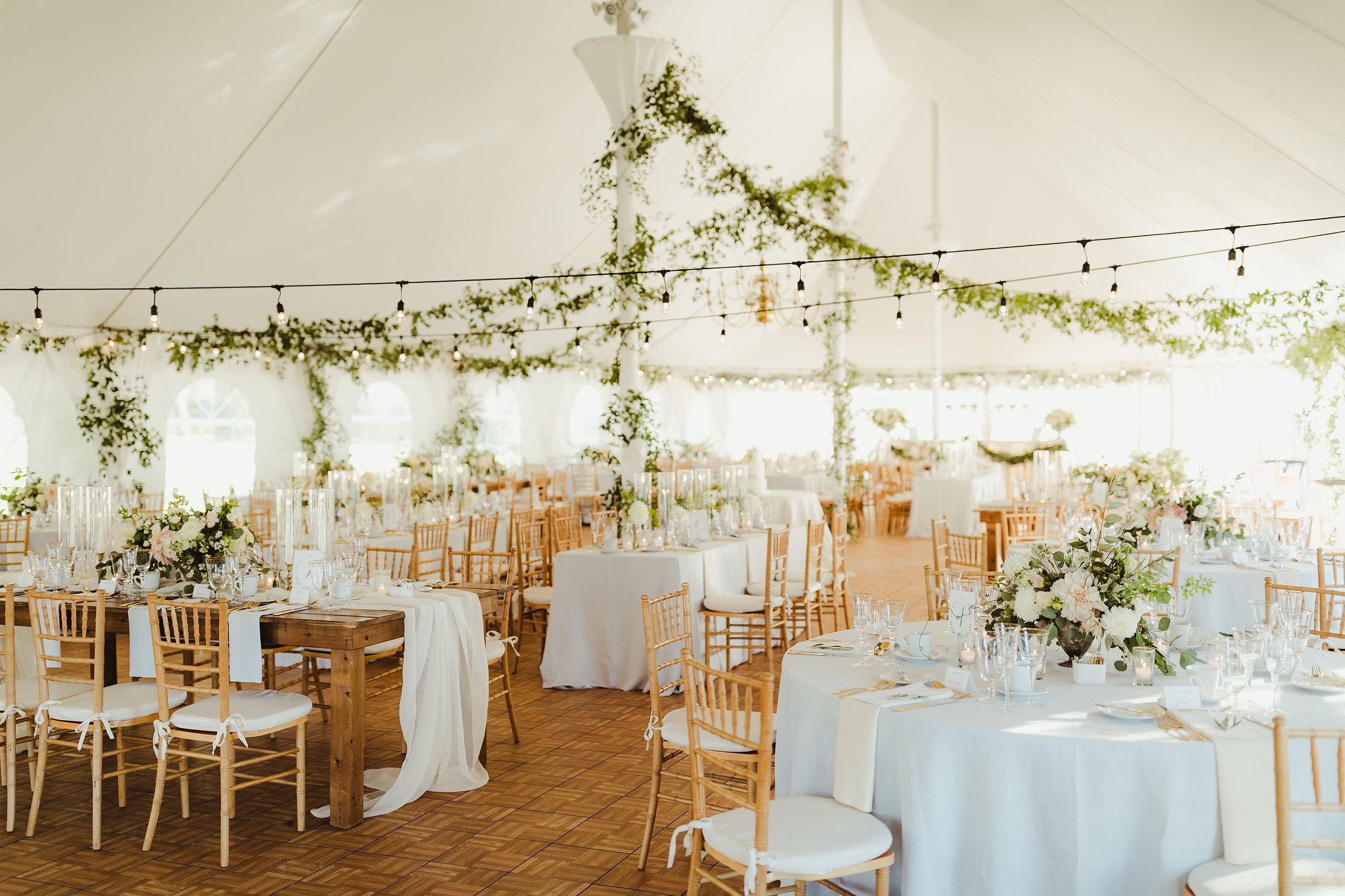 custom wedding planners ann arbor michigan event design paper goods florals tent