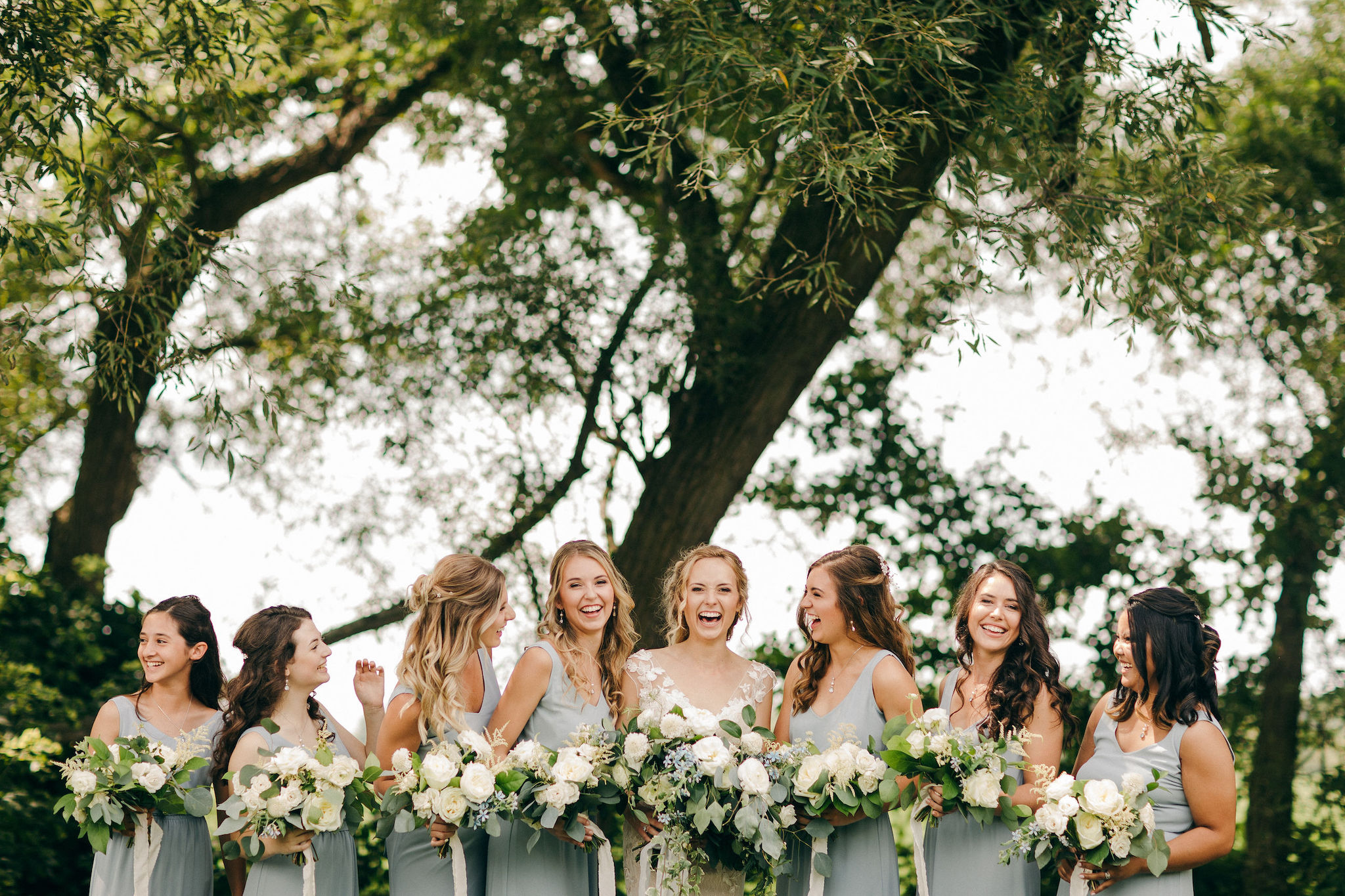 custom wedding planner ann arbor michigan event design florals bridesmaids bouquets outdoor ceremony farm