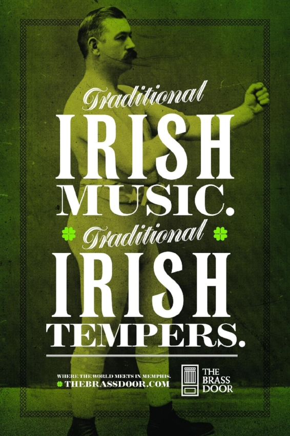 The Brass Door - A poster series for a traditional Irish bar in downtown Memphis.