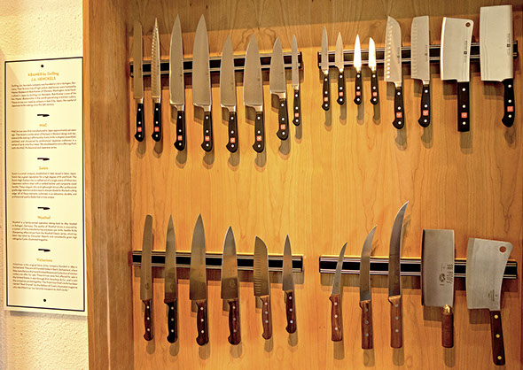 rates - The rates for sharpening are $2.00 per inch for kitchen knives plus a $5.00 per total order service charge for orders dropped off at the UPS location and $5.00 for shipped orders, whether you're shipping three or thirty knives.Broken tips can be reground and repaired for an additional cost of $10.00. If the tip is bent, I will attempt to straighten it. If it breaks in the course of straightening, I will repair it at an additional cost of $10.00. Only about 1 out of 20 knives break while straightening, so the odds are good that it won't need an additional repair.There is no charge for straightening a bent tip, unless, of course, it breaks. Please call or email me with any questions you may have.60 days after notification that knives are done, knives still at the shop will begin to incur a storage fee of 50 cents per knife,per day.