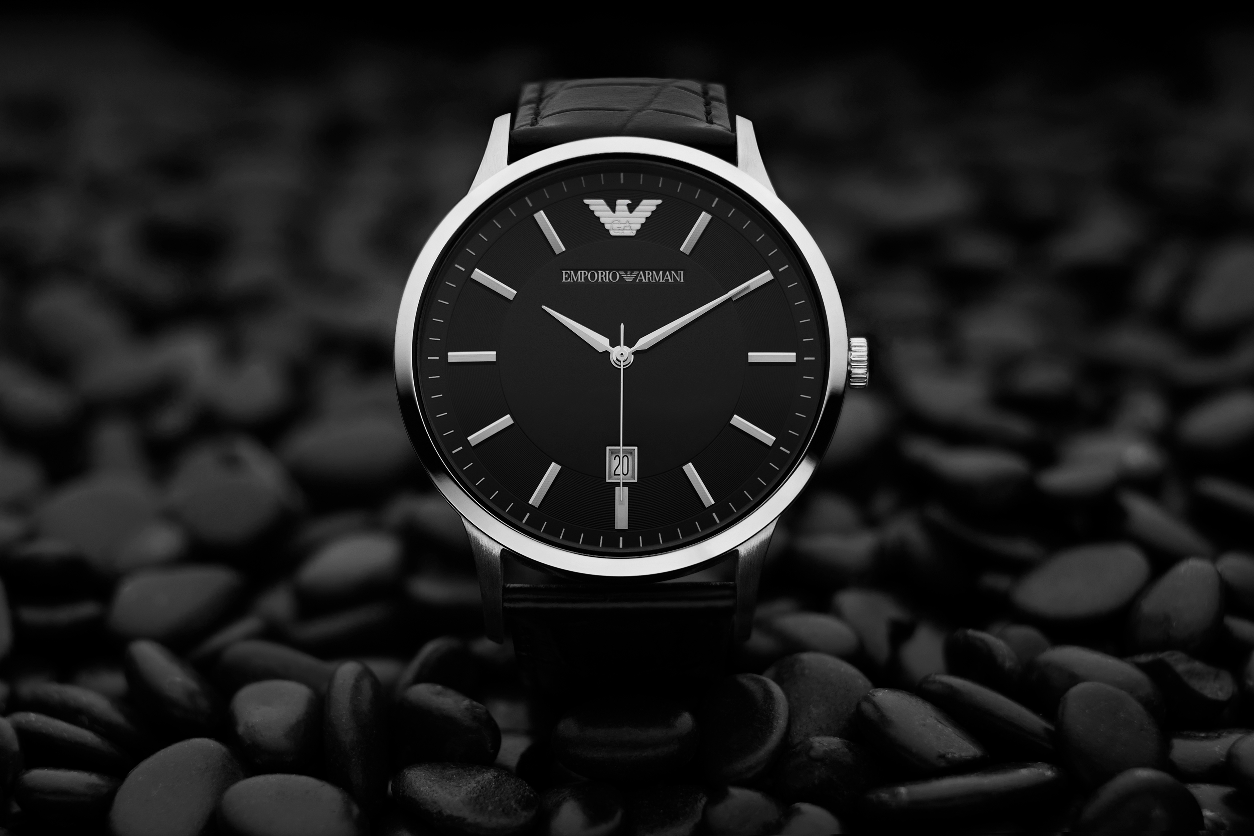 Emporio Armani wrist watch commercial at RDClicks Photography Kamloops