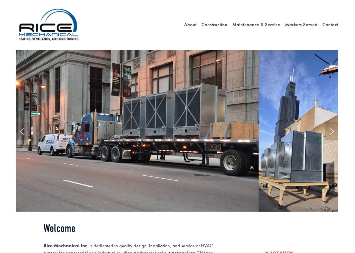 Mechanical Contractor Website Design & Content Assistance