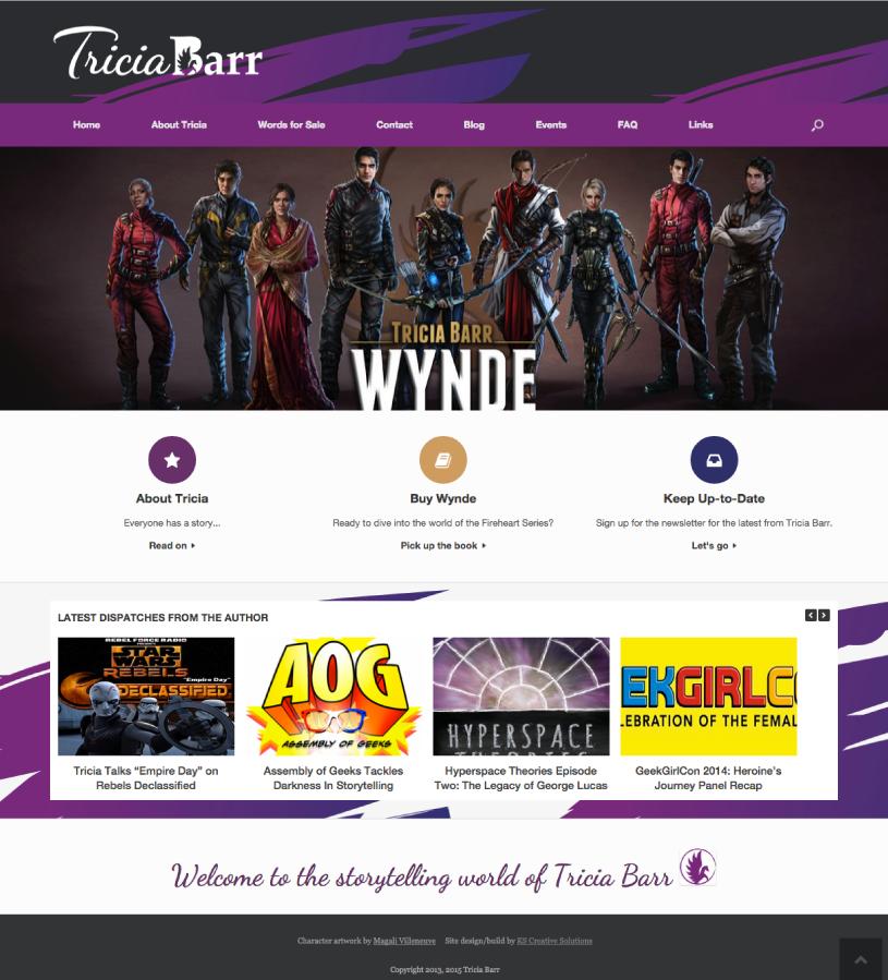 Author Website Home Page -Tricia Barr