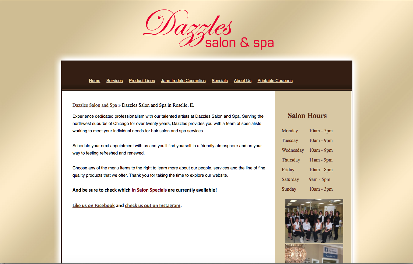 Salon Website Consultation & Content Creation