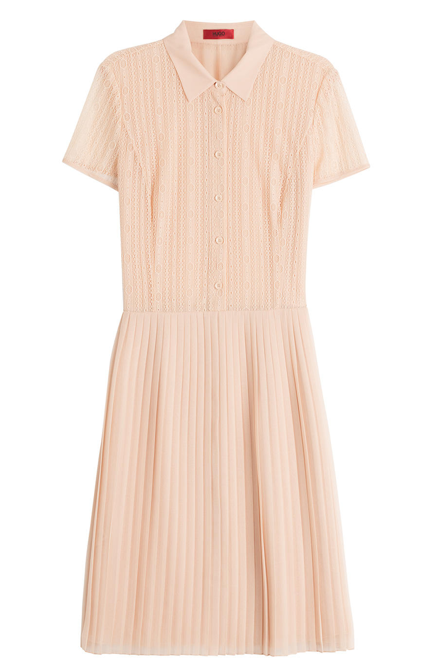 Hugo Shirt Dress with Pleated Skirt