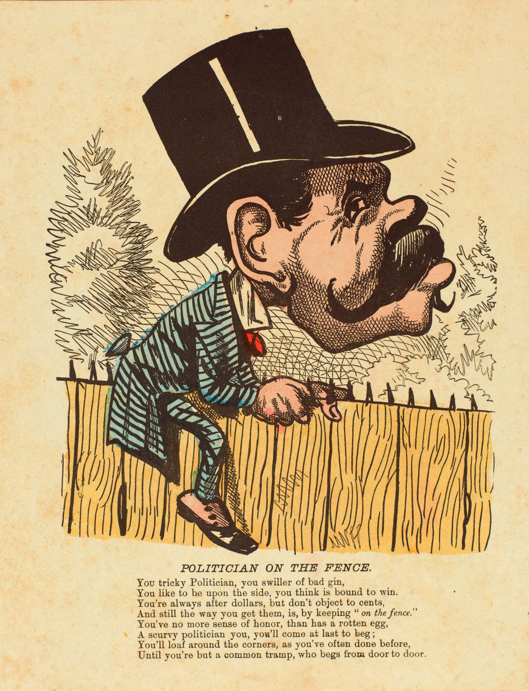 "A satirical ""vinegar"" Valentine from America, circa 1855."