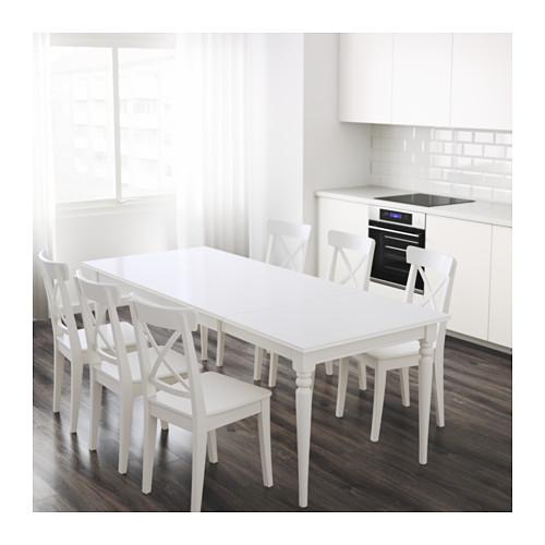 Ikea Ingatorp Extendable White Table