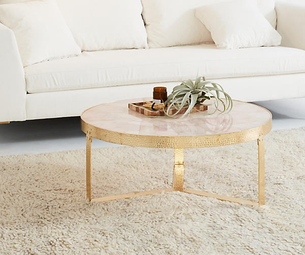 Anthropologie Pink Quartz Table $1,198