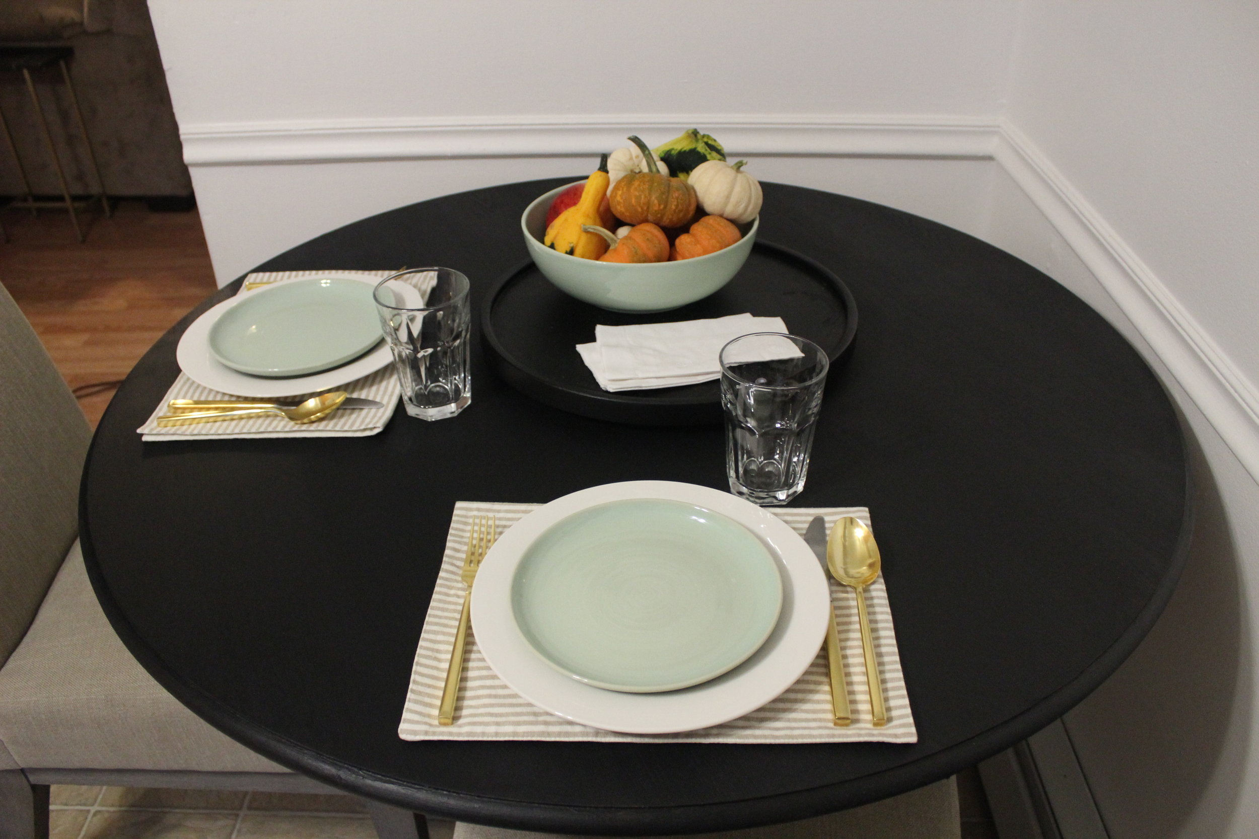 Set with dishes