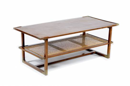 Mecox Caned Shelf Table $2,800