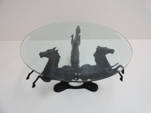 Mecox Vintage Iron Horse Table $2,400