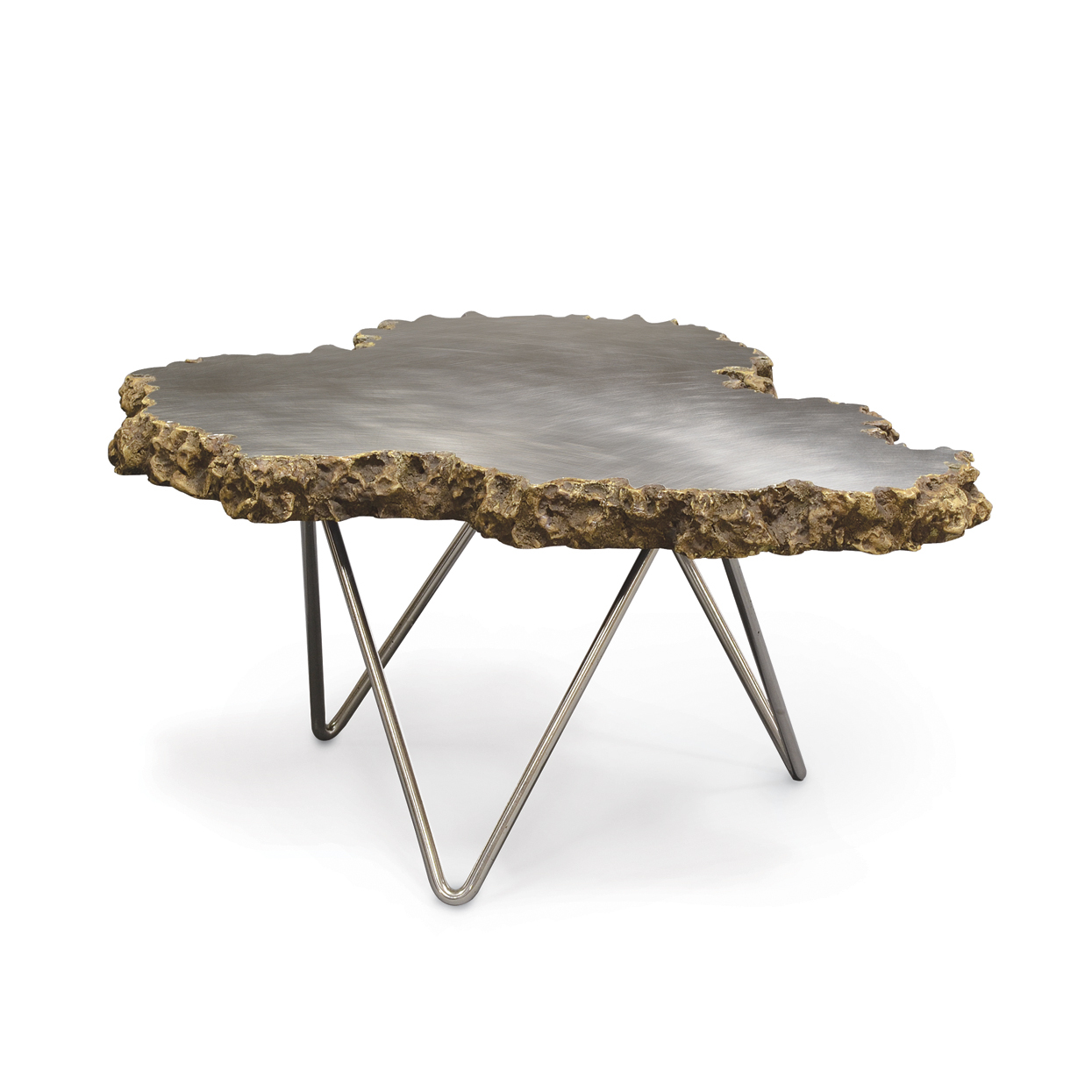 Mecox Stainless Steel & Lava Stone Table $1,125-$1,665