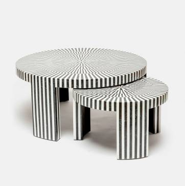 Mecox Striped Nesting Tables $5,350