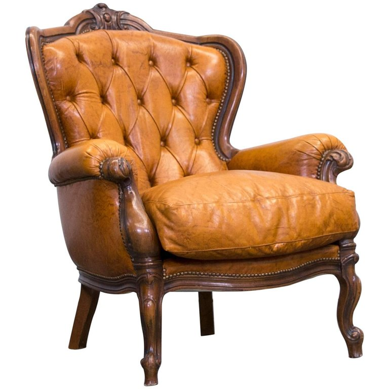 1st Dibs Chesterfield Chair $830