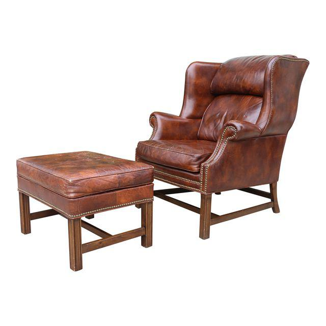 Charish Leather Wingback Chair $580