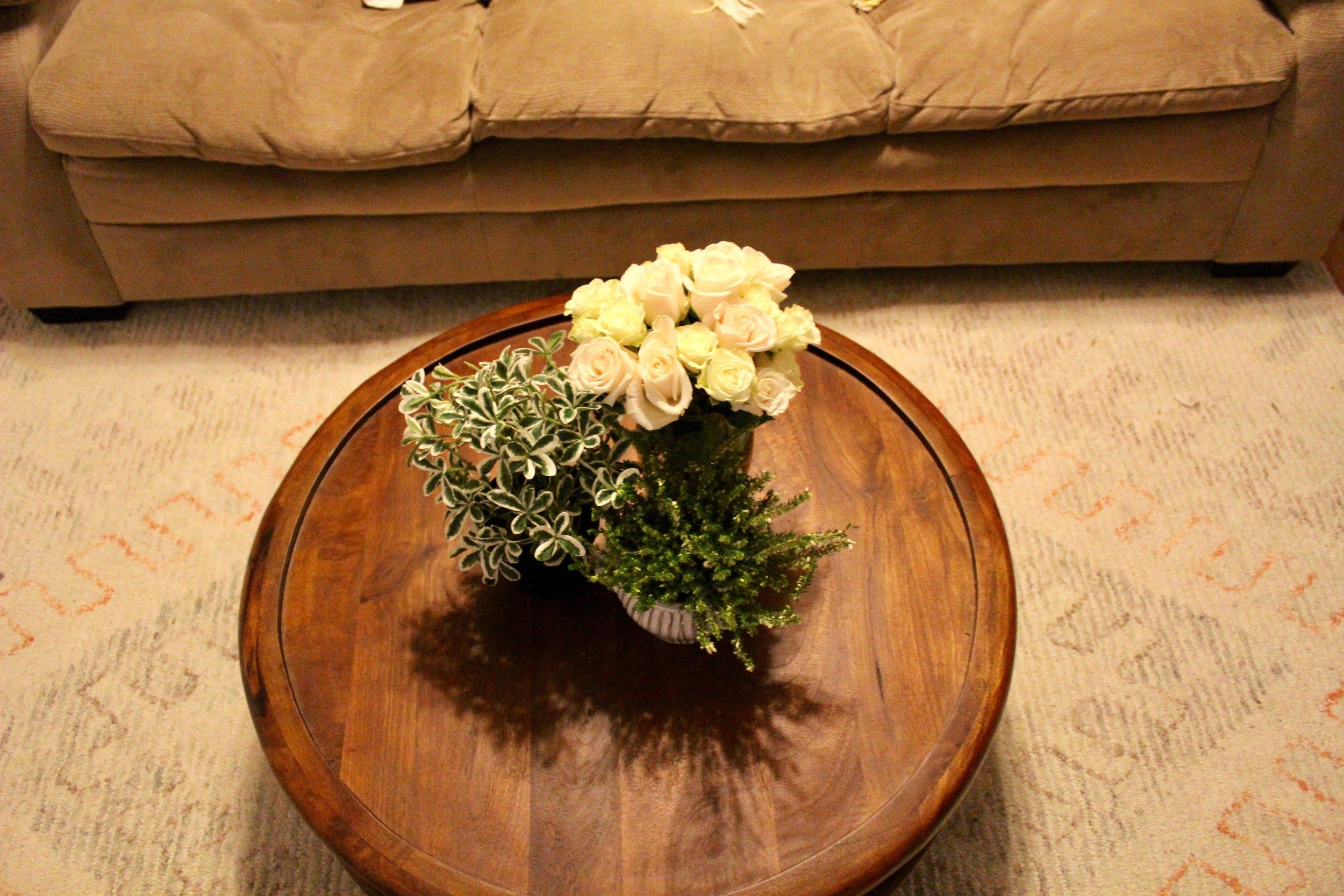 Arrangement #3 Tried a lush look with 3 plants, not quite minimalist enough