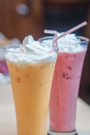 Mango and Strawberry Lassi