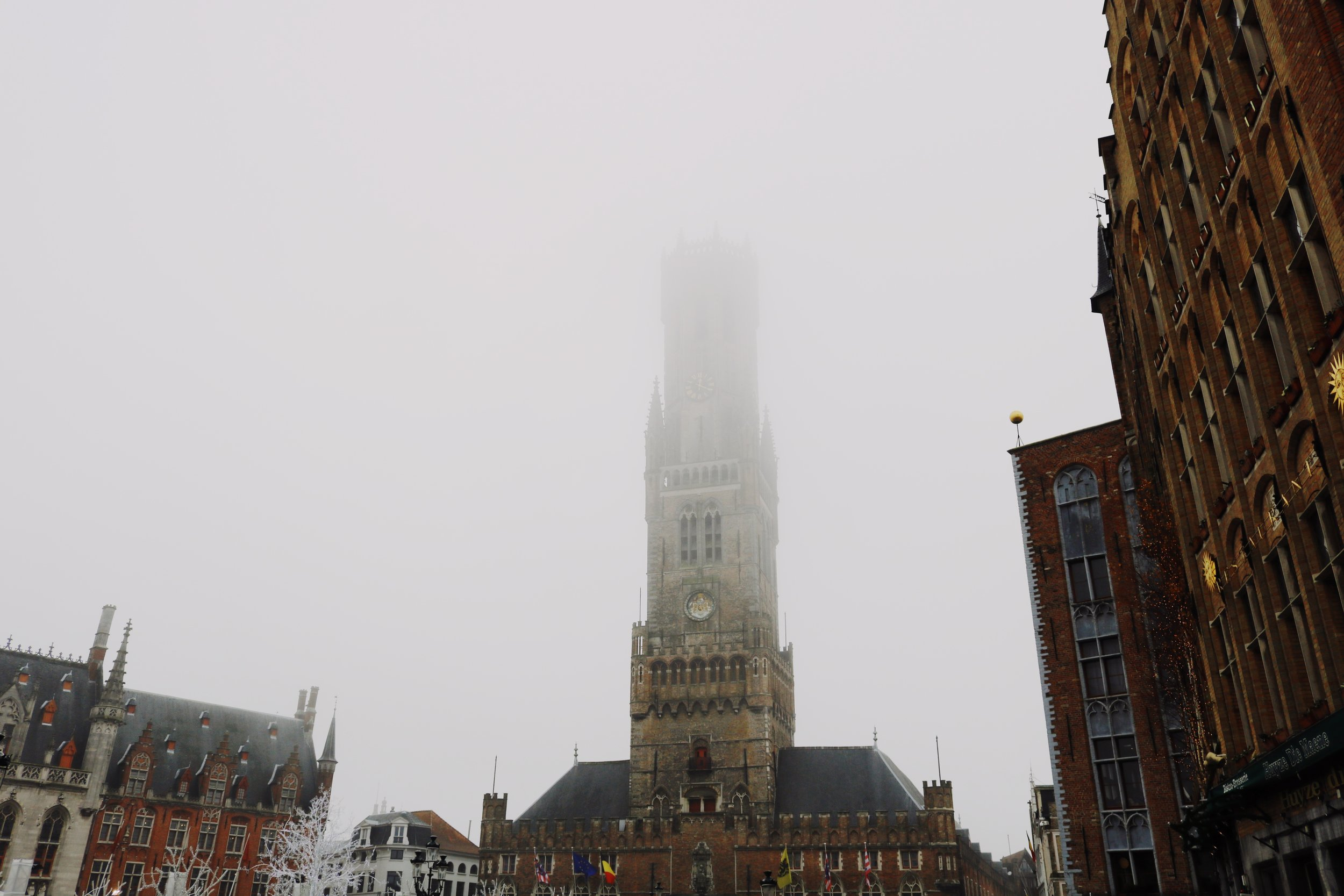 The clock-tower in Bruges city center