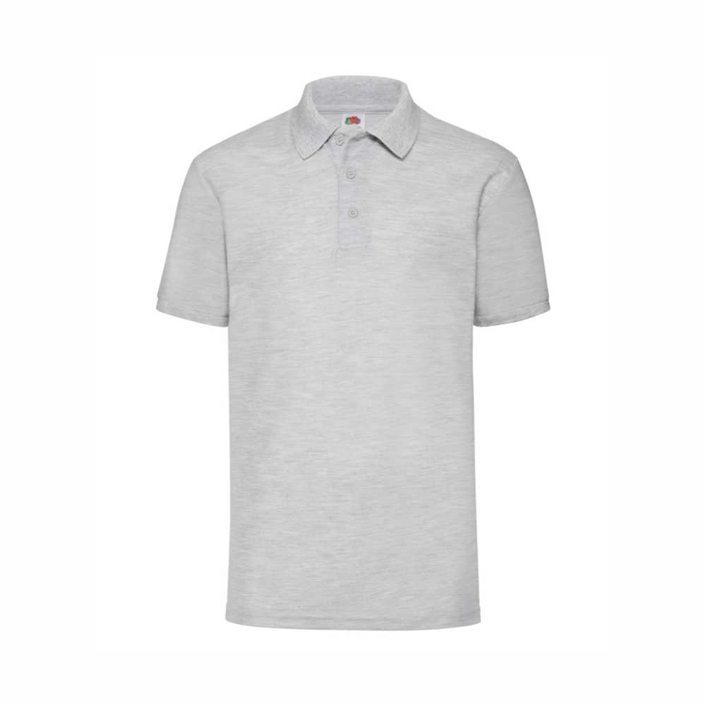 Heather Grey Polo Shirts Red Penguin