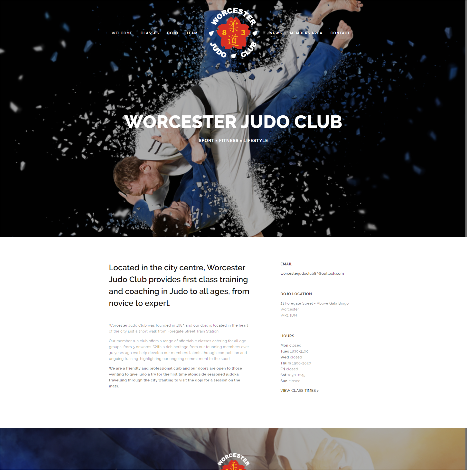 Worcester-judo-club-website-designer-malvern-worcestershire-uk-red-penguin