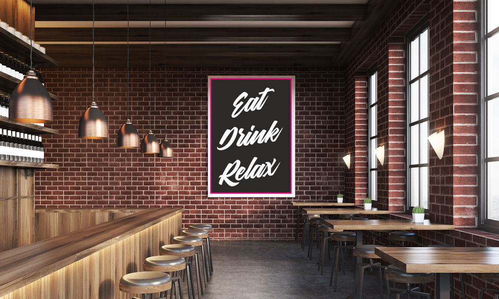 A3 sizes A1 Coffee Cafe Restaurant Kitchen Advertising Quote Poster A0 A2