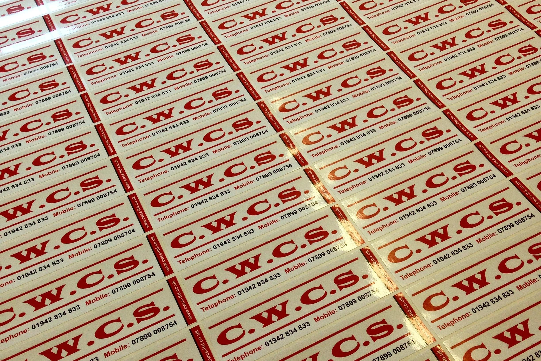 Label printing -