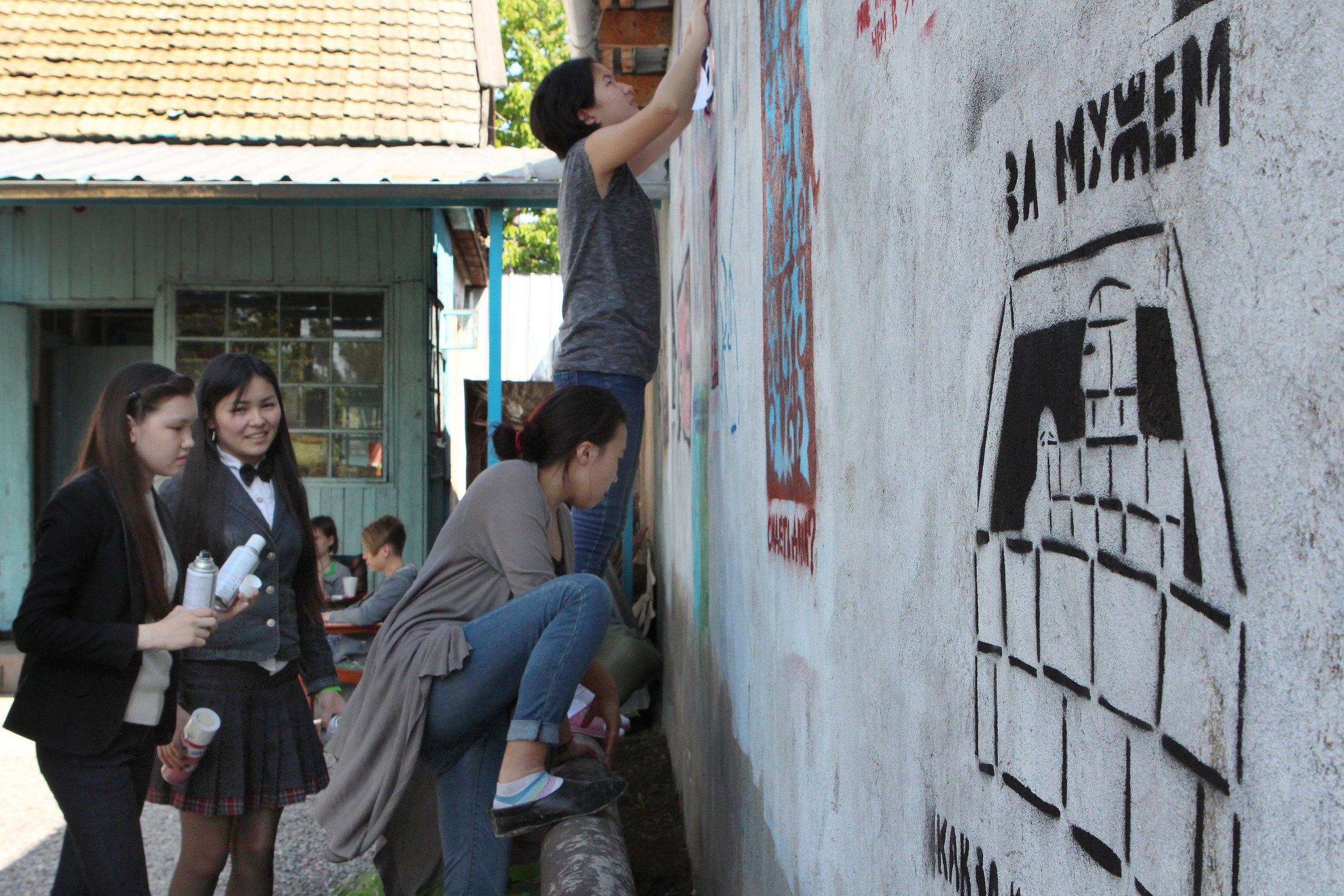 """- The Girl Activists also create graffiti, write blogs, make videos, draw comics and illustrate textbooks to make their points. Dariya, 17, observes, """"If you have a friend, even one friend, who supports and listens to you, you become strong."""""""