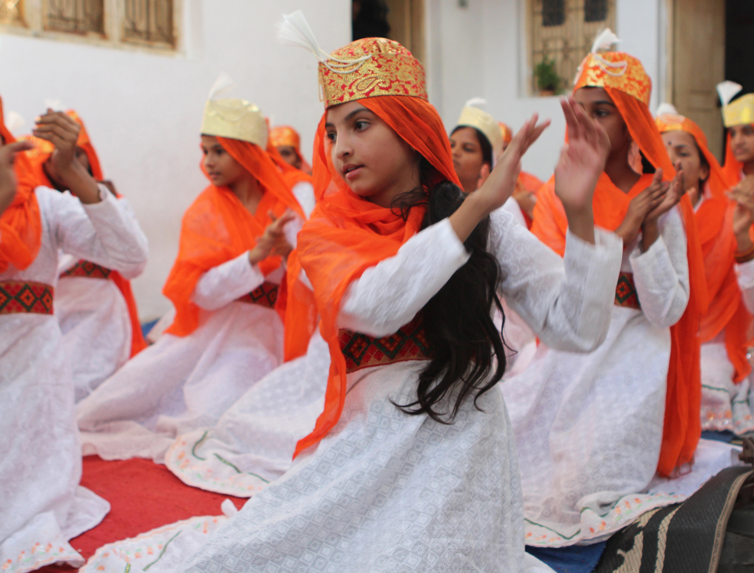 """- Shaheen girls, who are traditionally not allowed to sing, rehearse lyrics inspired by Sufi devotional music. Defying institutional, family and community constraints, they plan to record a CD about girls' freedom. Firdous, 15, says, """"I started to have a voice of my own, and I fought with it."""""""