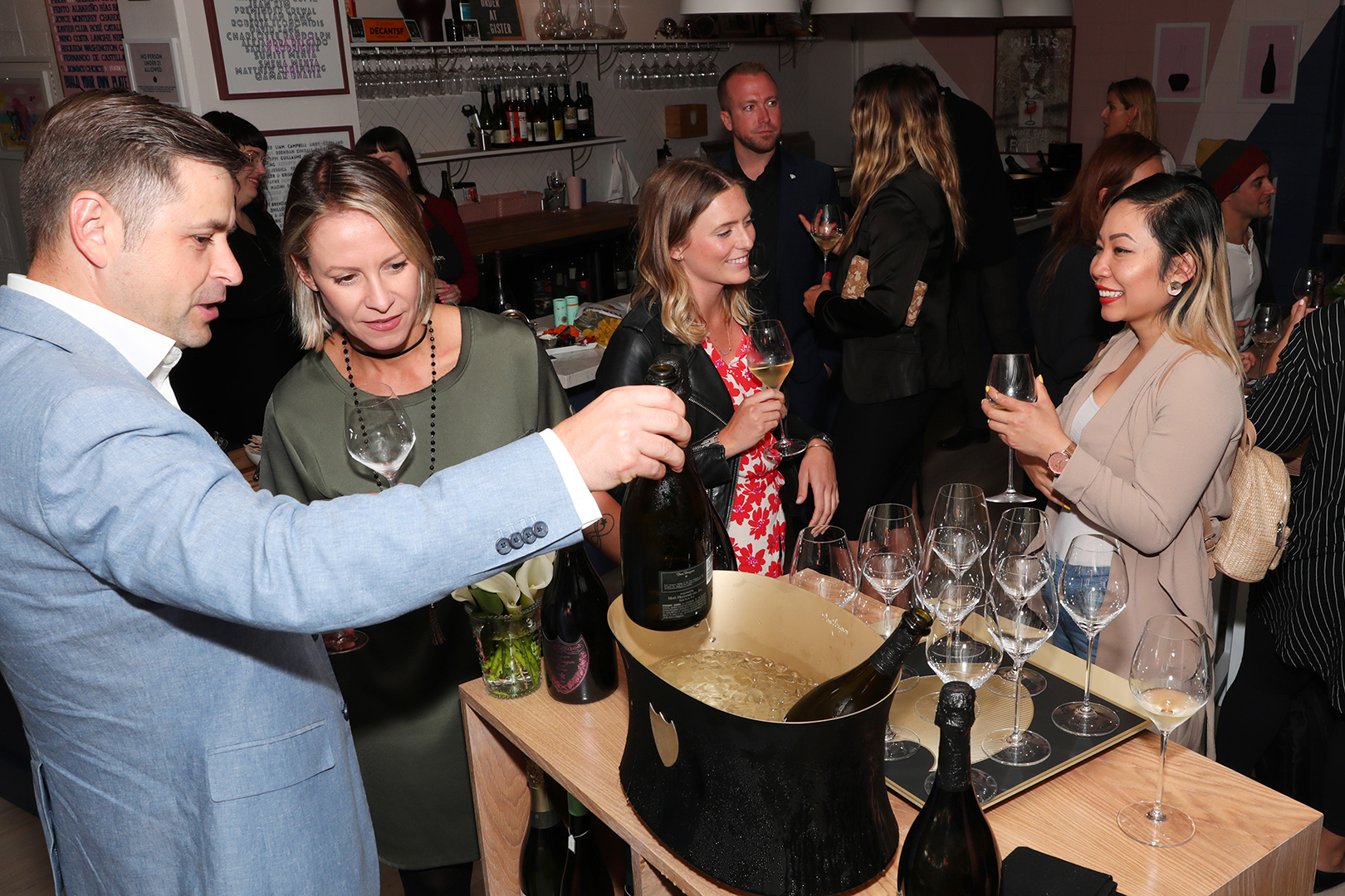 DOM Pérignon @ DECANTsf 6/24/19 - Dom Pérignon Brand Ambassador Diego Meraviglia and DECANTsf's Cara Patricia preview the 2006 Vintage Rosé and the 2002 P2 to invited sommeliers in the San Francisco Bay Area on June 24, 2019.photos by Dirk Wyse.