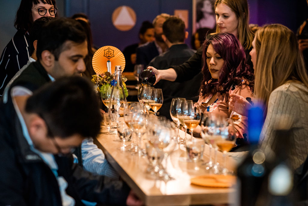 Veuve clicquot & the CAviar Co #yelloweek @ DECANTsf 5/16/19 - DECANTsf & Veuve Clicquot brought together an incredible tasting experience with La Grande Dame 2008, Veuve Clicquot Vintage 2008, and Veuve Clicquot Rosé NV paired with The Caviar Company's Paddlefish.photos by Kathleen Sheffer