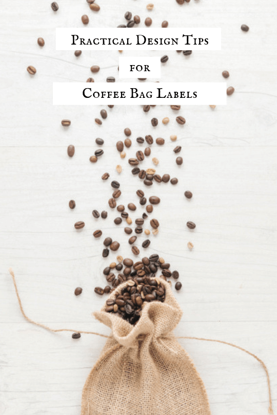 Sharing Practical Design Tips for Coffee Bag Labels for your coffee fundraising program.