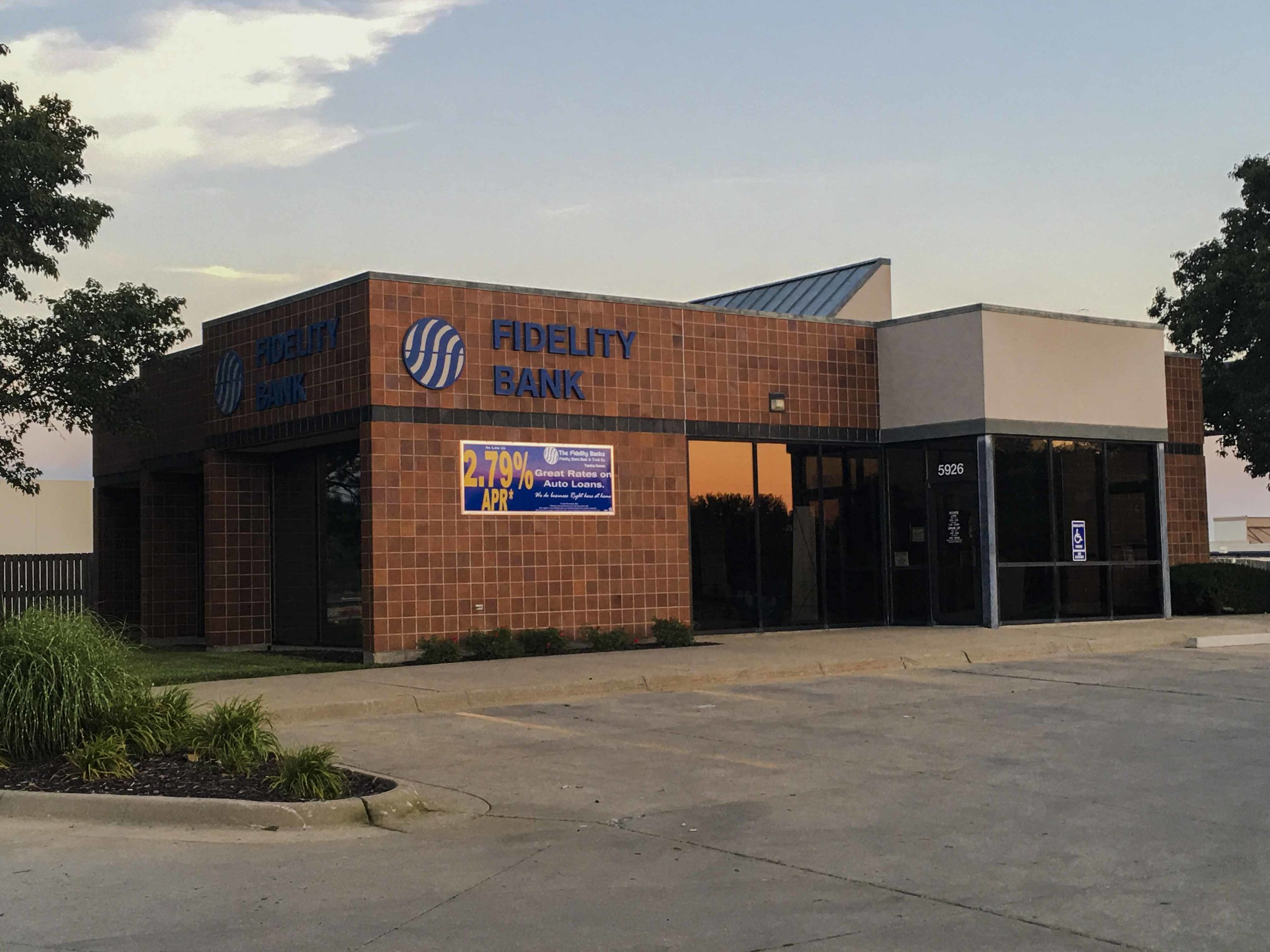 Fidelity State Bank West Ridge   Client:Fidelity State Bank