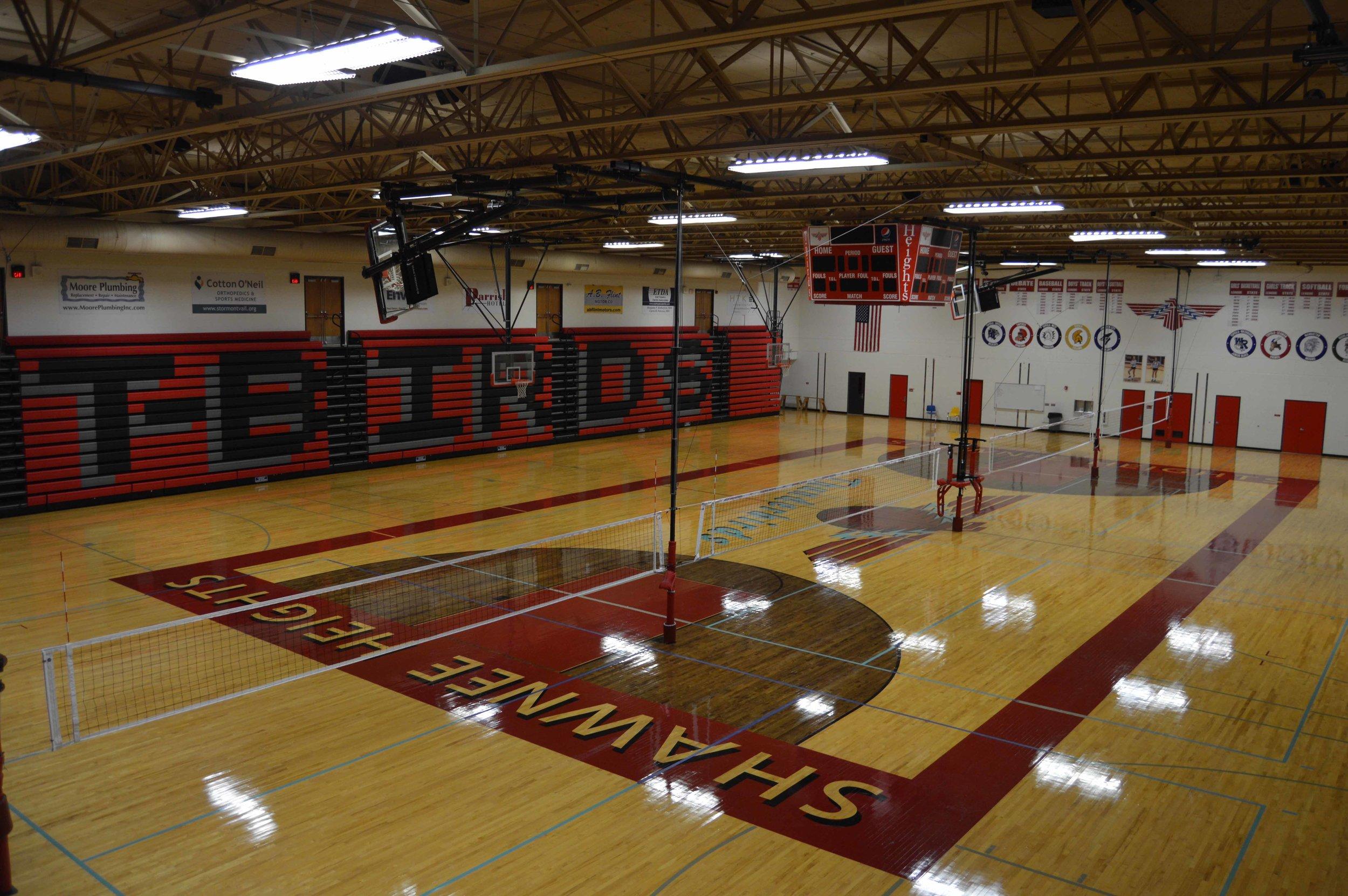 Shawnee Heights High School Gymnasium   Client: USD 450 Shawnee Heights Architect: Professional Engineering Consultants