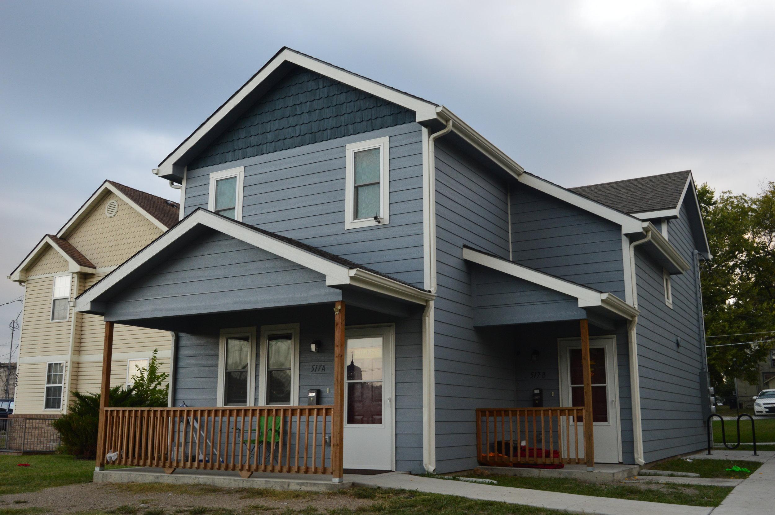 Cornerstone 517 Fillmore Duplex   Client: Cornerstone of Topeka Architect: Shirley Construction Co.